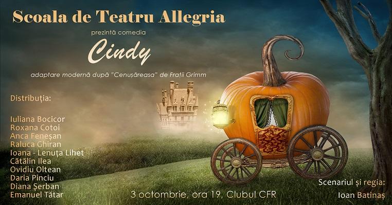 Oferim 2 invitatii duble la piesa de teatru Cindy, povestea Cenușăresei