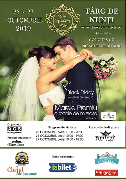 25-27 octombrie Cluj Wedding Style