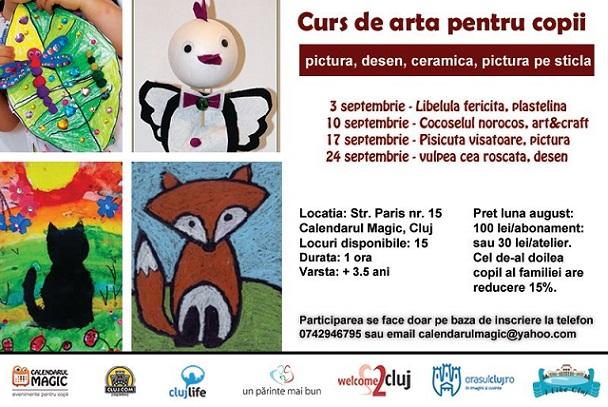 10 septembrie Curs de arta Junior pentru copii
