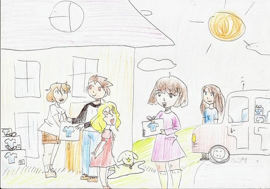 8 octombrie Donație de îmbrăcăminte, încălțăminte și cărți pentru copii