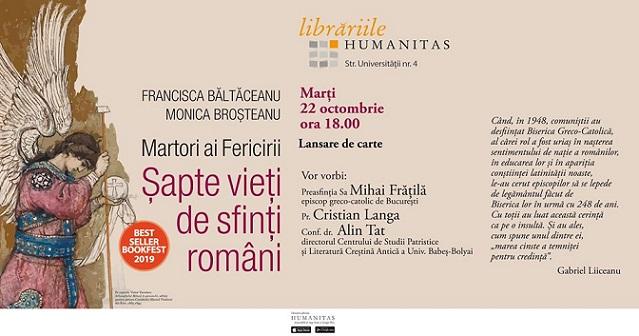 22 octombrie Martori ai fericirii. Șapte vieți de sfinți români