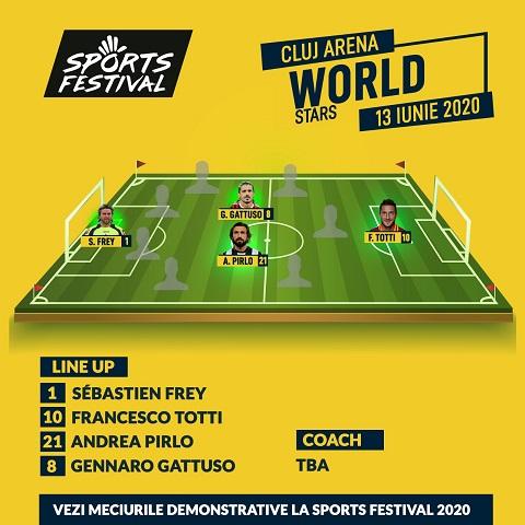 Gattuso și Frey joacă la Cluj la Sports Festival 2020