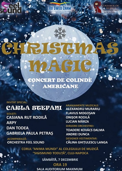 Oferim 4 invitatii simple la Christmas Magic – concert de colinde americane