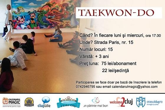 11 decembrie Curs de Taekwon-Do pentru copii
