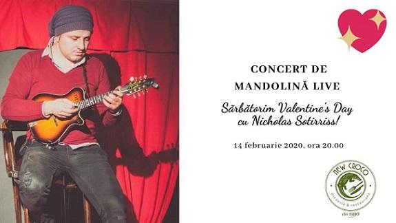 14 februarie Concert de mandolină live de Valentine's Day
