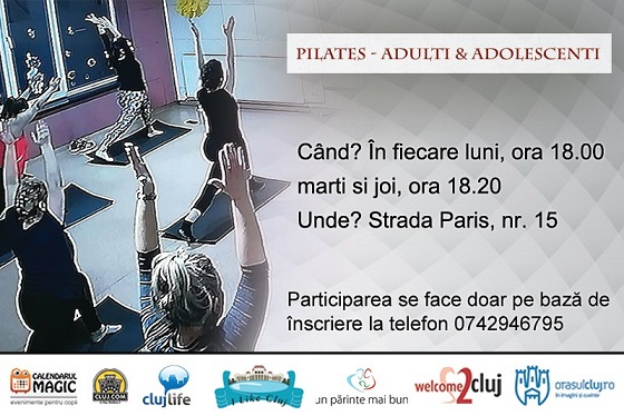 6 februarie Pilates pentru adulti si adolescenti