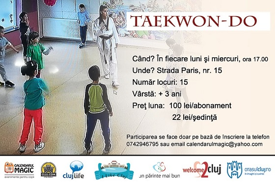 10 februarie Curs de Taekwon-Do pentru copii