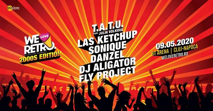 Cei mai îndrăgiți artiști ai anilor 2000 vin la We Love Retro Ediția 2000. BT Arena, pe 9 mai
