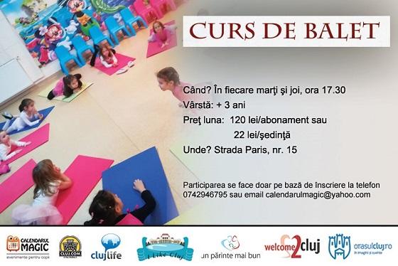 3 martie Curs de balet pentru copii