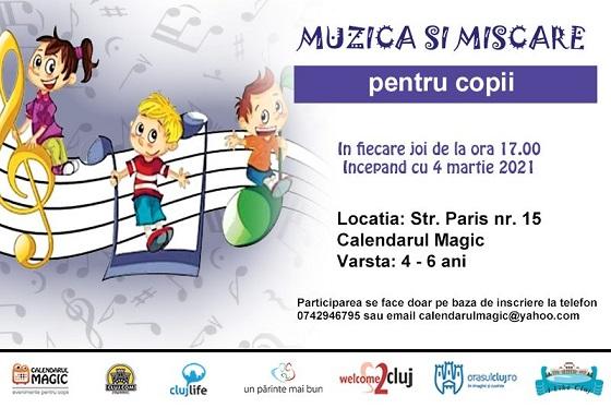 Muzica si miscare pentru copii