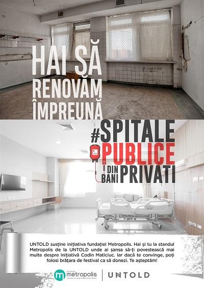 Fanii Untold pot dona pentru renovarea spitalelor din Romania